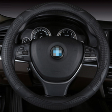 Car Steering Wheel Cover Genuine Leather Size 38cm For Lada Ford Nissan Volkswagen VW Skoda Chevrolet  etc. 98% Cars
