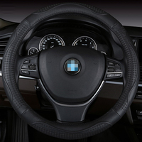 Car Steering Wheel Cover Leather Size 38cm For Ford Nissan Volkswagen VW Skoda Chevrolet Etc 98