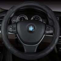 Car Steering Wheel Cover Leather Size 38cm For Ford Nissan Volkswagen VW Skoda Chevrolet Etc 98