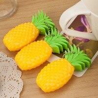 6 pcs/lot cartoon ball pens pineapples fruit ballpoint pens creative stationery children students gifts promotional pens