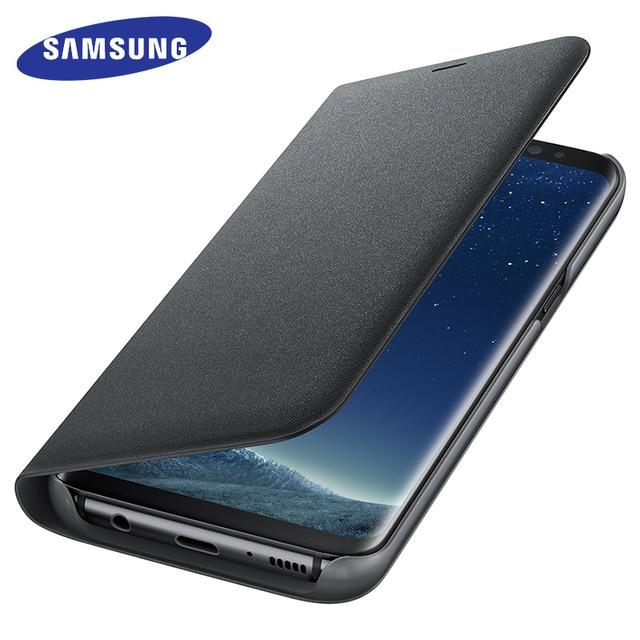Samsung Galaxy S8 S8 Plus Case Cover Originele Smart LED Flip Wallet Case Slaapfunctie