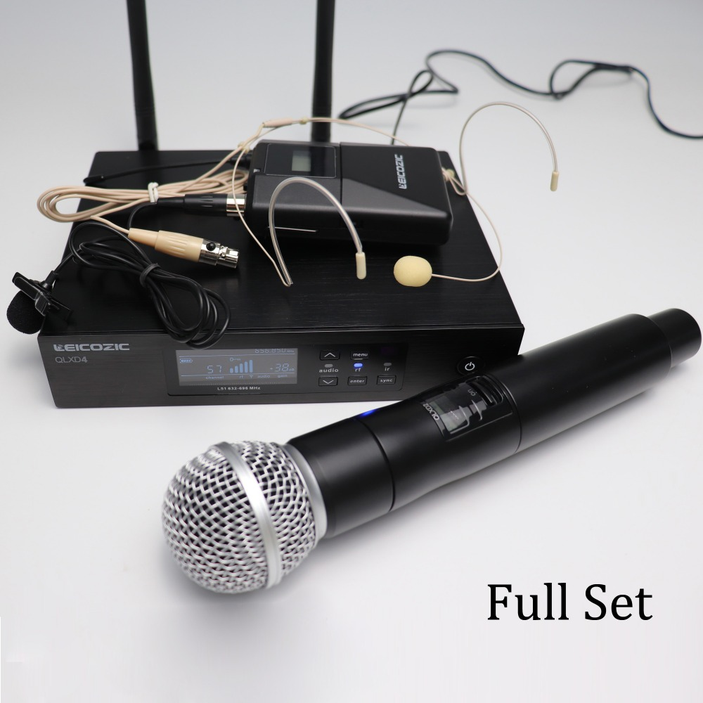 Leicozic True Diversity uhf wireless microphone system QLXD4 QLDX4 QLXD2  Digital Wireless mikrofon microfone sem fio full setLeicozic True Diversity uhf wireless microphone system QLXD4 QLDX4 QLXD2  Digital Wireless mikrofon microfone sem fio full set