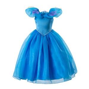 Image 1 - Pettigirl 공주 코스프레 우아한 여자 드레스 신데렐라 드레스 꽃 파티 의상 아이 옷 2020 GD50613 3