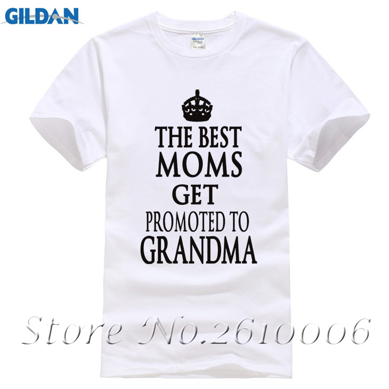 Jack Oaniels Quality T-Shirts Letter The Best Dads Moms Get Promoted To Grandpa Grandma Short Sleeve O-Neck T Shirts Tees 2017
