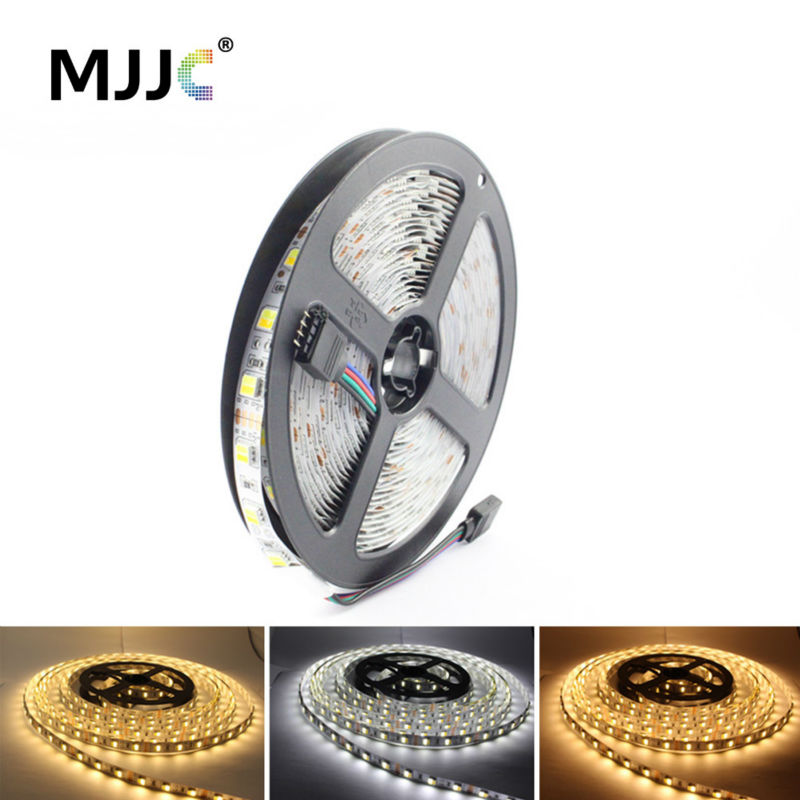LED Strip 5050 12V 5M WW CW CCT Justerbar Flexibel LED-Tape Lights Varm till Cool White för Inomhus Hem Belysning