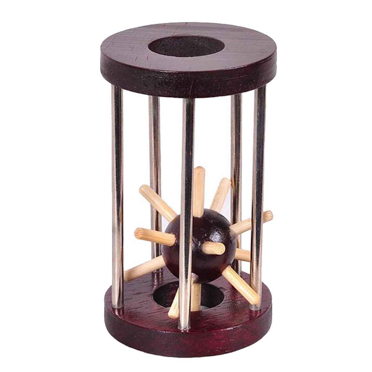 ABWE лучшие продажи деревянные tetrakaidahedron Блокировка логическая головоломка заусенцы головоломки интеллектуальное удаление игрушка
