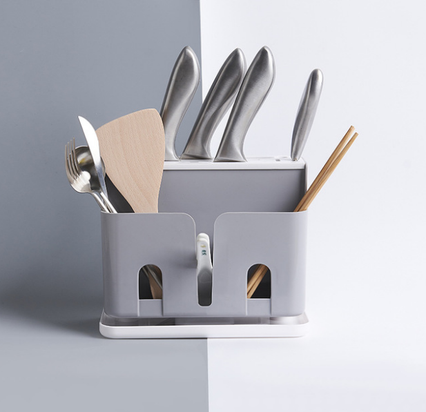 Universal Plastic Kitchen Knife Holder Storage Organizer Knife Rack Stand Drain Knife Block Cooking Tool Kitchen Tools LF436