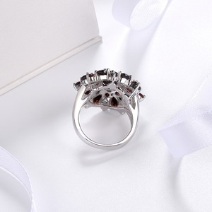 Image 4 - Silver Garnet Ring 925 Jewelry Gemstone 7.54ct Natural Black Garnet Rings for Womens Fine Jewelry Classic Design Christmas Gift