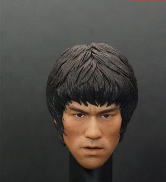 27537b528e2 Custom 1 6 Scale Bruce Lee Head Sculpt For Hot Toys Figure Body for 12