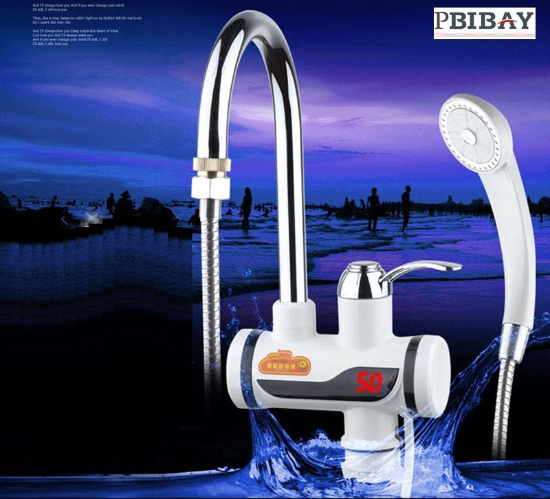 BDS3000W-5,Digital Display Instant Hot Water Tap Electric Shower,Tankless Electric Faucet,Digital Bathroom Heater,with EU plugBDS3000W-5,Digital Display Instant Hot Water Tap Electric Shower,Tankless Electric Faucet,Digital Bathroom Heater,with EU plug