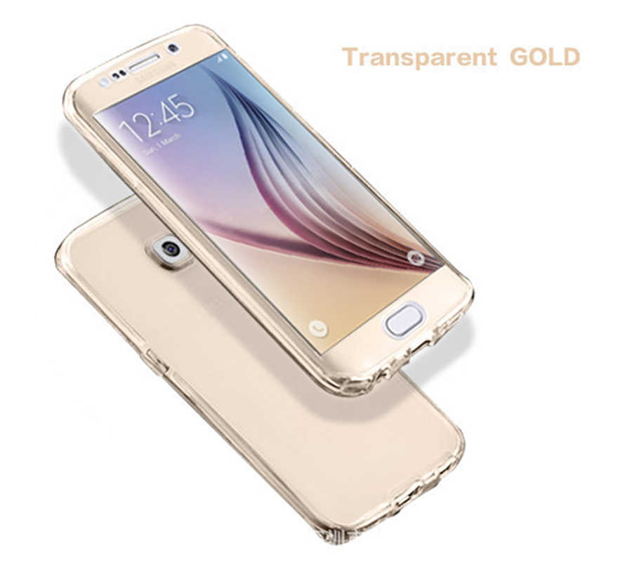 Silikon Case untuk Samsung Galaxy S9 S8 A8 Plus 2018 S5 S6 S7 Edge A3 A5 A7 2015 2016 J3 j5 Pro J7 Neo 2017 Lembut Penutup Penuh
