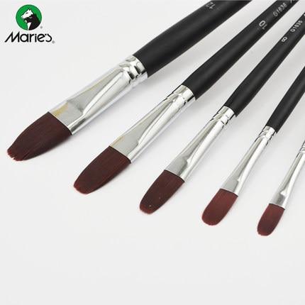 Duck tongue oil brush wine red duck tongue nylon brush water chalk acrylic paint brush 2pcs tongue