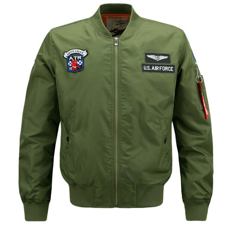Spring 2018 men jackets high quality brand bomber jacket Army Military Style Breathable jaqueta Jackets flight Pilot Coat Mens