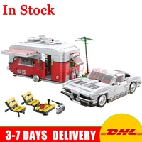 In Stock XingBao 08003 Creative Series Dream Touring Car The MOC Camper Set Children Educational Building