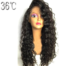 36C  Curly Lace Front Wig Brazlian Non-remy Hair Natural Color Human Hair Wig for Black Women With Baby Hair 12-26Inch Free Part
