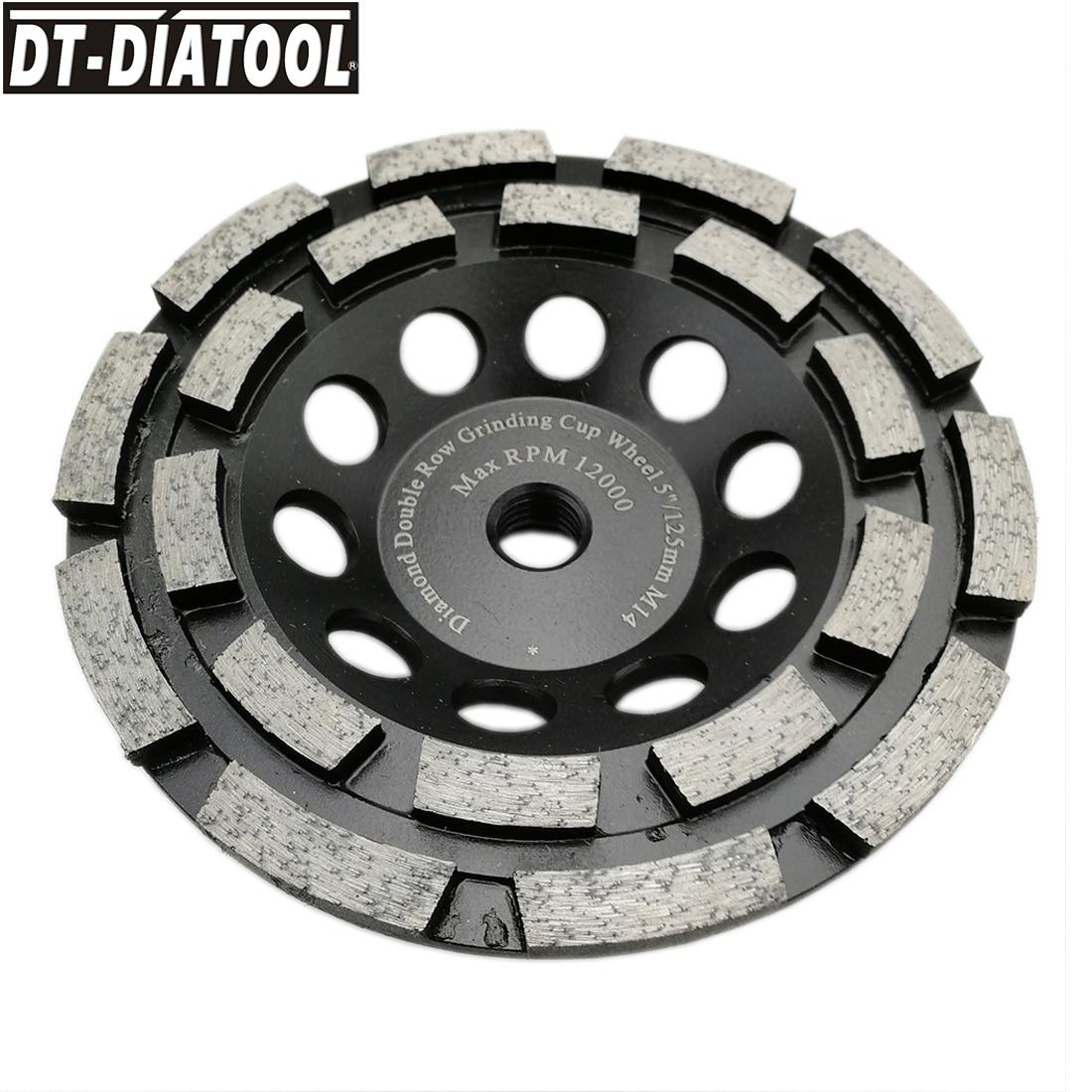 DT DIATOOL 1piece Premium Diamond Double Row Cup Grinding Wheel for Concrete hard stone granite Dia