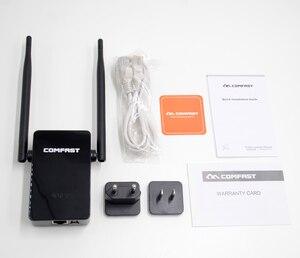 Image 3 - Comfast 300   750 mbps sem fio wifi repetidor amplificador de sinal 2 * 5dbi antena ponto de acesso sem fio ap wi fi alcance estender roteador