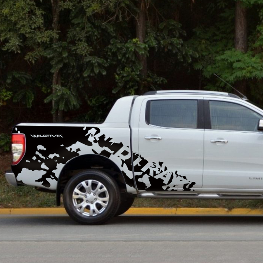 wildtrak body rear tail side graphic vinyl  car sticker for Ford ranger
