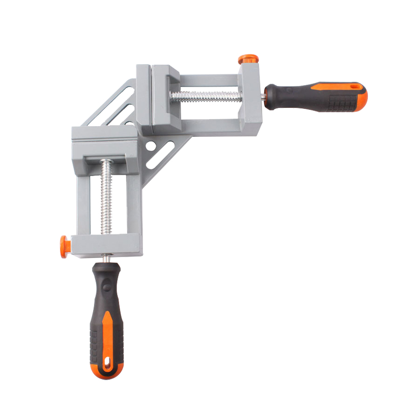 Free Shipping Double Handle 90 Degree Angle Clip Woodworking Jigs Fast Type Aluminum Quick Release Corner Clamp Frame Clip