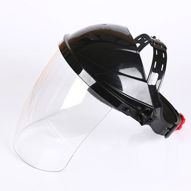 Welding Protective Mask The Head-mounted PC transparent Anti-shock Anti-splash Masks Working Safety Light weight Welding Cap jaisati transparent protective anti oil splash welding mask headset plexiglass protective masks