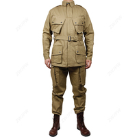 WW2 US Army Military ARMY M42 Officer jacket and pants COTTON FASHION Paratrooper uniform(no shoes