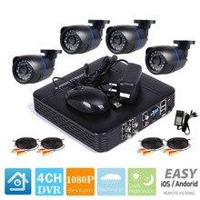 1080N 4CH AHD DVR 4 шт. 2.0MP 1080 P Камера безопасности Система наблюдения CCTV уличная Водонепроницаемый ИК Ночное видение 500G видеорегистратор с жестким диском комплект