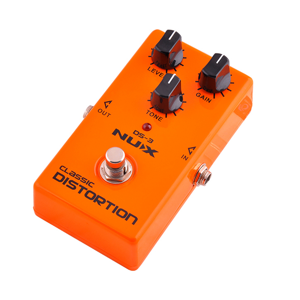 цены NUX DS-3 Classic Distortion Guitar Effect Pedal Crunch distortion Brown Sound with True Bypass High Quality  Guitar Parts