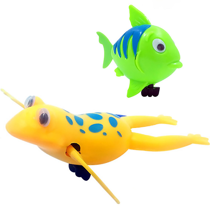 Funny Swimming Frogs Toys Fish Tail Moving Toys Kids Multi-type Wind Up Bathing Shower Clockwork Toy Baby Children Bath Toy