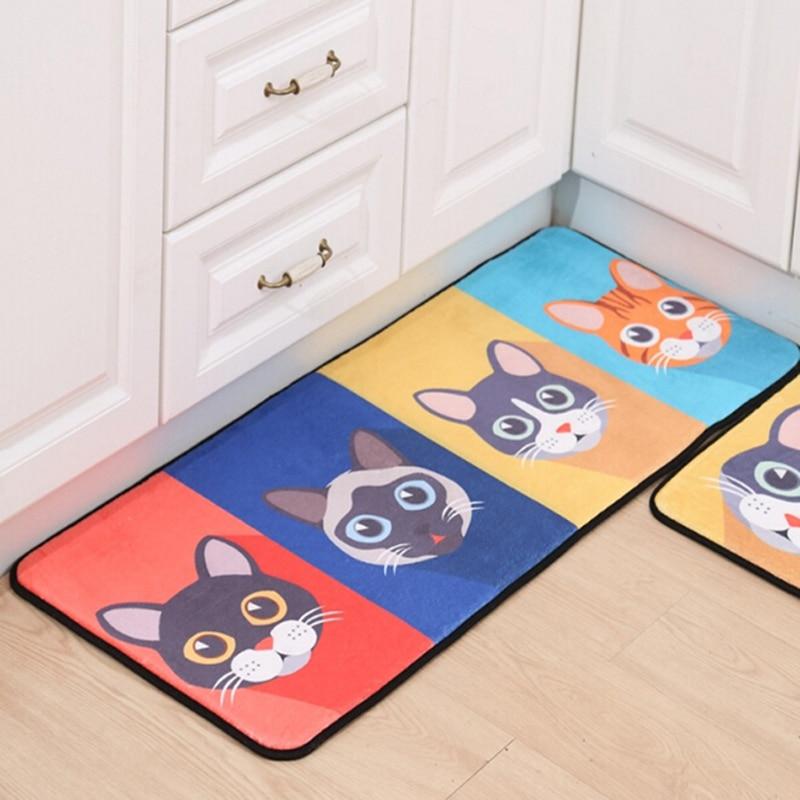 Lovely Cat Cartoon Mat Bathroom Carpet Living Room Bedroom