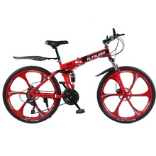 Altruism X9 Folding mountain bike Aluminium 21 speed 26 inch dual disc brakes bicycles mountain bikes women crosscountry Bicycle cheap Aluminum Steel Female 17 5kg 150-200cm Spring Fork (Low Gear Non-damping) Double Disc Brake Full Shockingproof Frame Ordinary Pedal