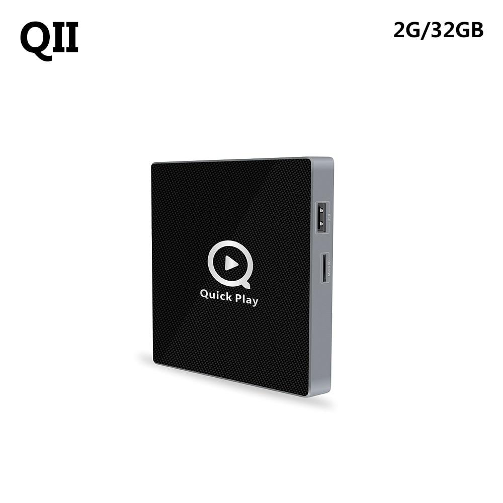 QII TV Box Android 6.0 Amlogic S912 Octa Core 2GB 32GB 4K HDR10 HD 2.0 Wifi Smart Media Player цена и фото