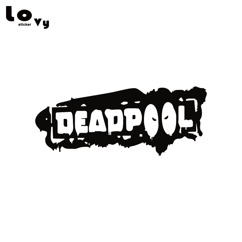 DEADPOOL BLEEDING Vinyl Decal car bloody window sticker comic marvel ANY SIZE!