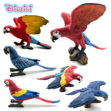 Simulation Forest wild Mini Parrot bird Home decor ornaments decoration animal model figurine garden action figure Plastic Toys