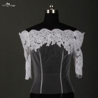 RSJ17 Lace Jackets For Wedding Dresses Off Shoulder Long Bolero Wedding