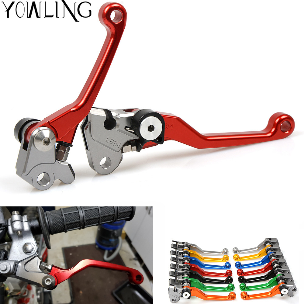 YOWLING CNC Pivot Foldable Motocross Lever Dirt Bike Brake Clutch Lever For SUZUKI DR250R <font><b>DR</b></font> 250R <font><b>DR</b></font> <font><b>250</b></font> R 1997 1998 1999 2000 image