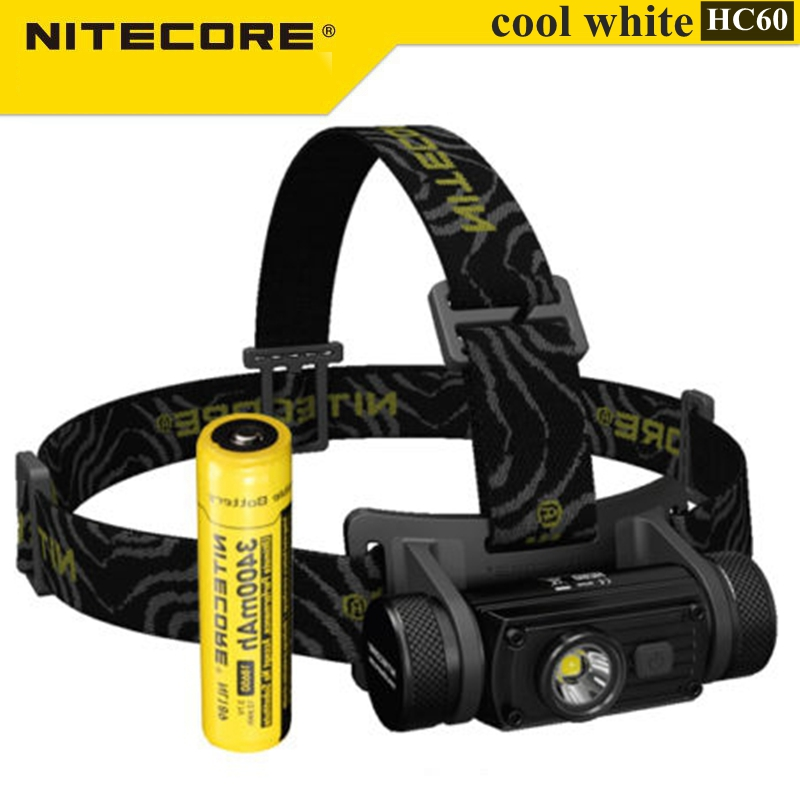 Nitecore HC60 XM-L2 U2 1000LM Cool White Rechargeable LED Light Headlight Flashlight For Camping Hiking oasis hc 30 l white