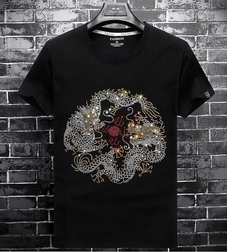 Marque été chaud foret National style chinois à manches courtes T-shirt hommes mode vêtements grande taille demi manches T-shirt