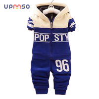 2016 Spring Autumn Kids Children Baby Boy Set Sport Suits Clothing Set Tracksuit Toddler Boy Clothes