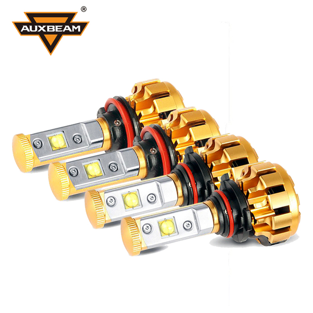 Auxbeam 6500k Cree SMD Chips H11 H7 Led Car Bulbs SUV H13 9006 H4 Headlight Kits with Canbus 9005 H3 Led Fog Lamps + Cooling Fan