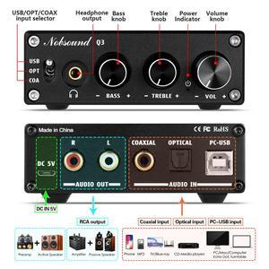 Image 3 - Nobsound HiFi USB DAC Mini Digital to Analog Converter Coax/Opt Headphone Amp With Treble Bass Control