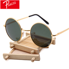 Psacss 2019 Vintage Metal Polaroid Round Sunglasses Women Men Sun Glasses Womens Retro Brand Designer Mirror gafas de sol mujer