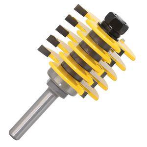 Image 5 - 8mm haste ajustável dentes dedo junção roteador bit cortador de madeira de grau industrial tenon ferramenta para trabalhar madeira