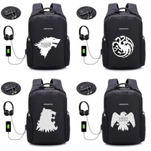 TV Game of Thrones backpack Anti thief USB Recharging Laptop Backpack  student book bag Men women 882e703d04407