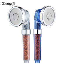 ZhangJi 3-Function Adjustable Jetting Shower Head High Pressure Saving water Anion Filter SPA Nozzle Bathroom Shower Bath Head(China)