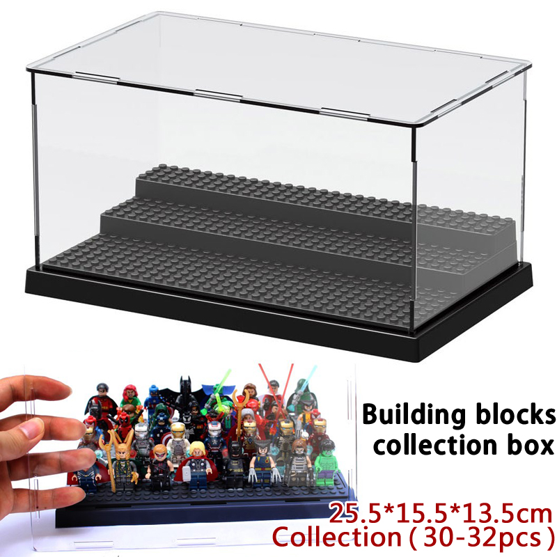 Bricks Figures & Building Toys mini blocks Display Boxes Collection Box compatible 30-32pcs Marvel Super Heroes figures 24pcs bohs mini monster collection figures toys random