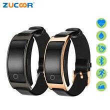 Zucoor Smart Браслет Pulse Мониторы CK11S электронная группа Шагомер трекер Приборы для измерения артериального давления Фитнес pulsometro Для мужчин часы