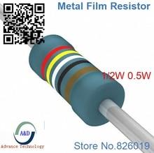 Только оригинальные 510 К Ом 1/2 Вт 1% радиальная DIP Металлические пленочные осевая резистор 510 ком 0.5 Вт 1% резисторы