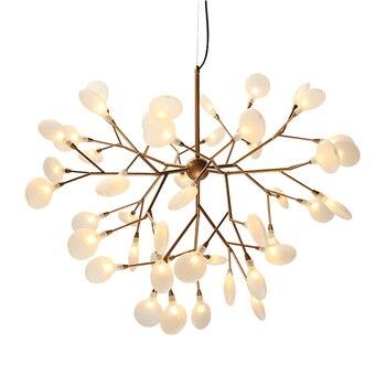 Led 현대 반딧불 샹들리에 빛 세련 된 트리 분기 샹들리에 램프 장식 천장 샹들리에 매달려 led 조명