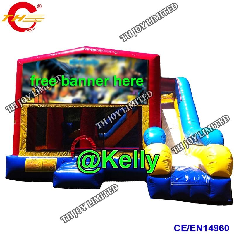 free door shipping 6x5m big inflatable halloween bounce ...