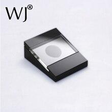 Lüks tek gevşek taş takı kutusu kasa hediye elmas taş taş ekran standı tutucu siyah Acrylick depolama aracı